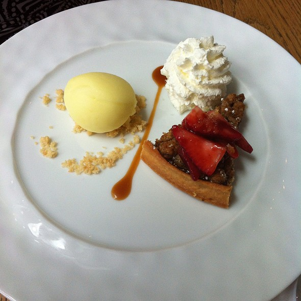 Rhubarb Tart With Lemon Gelato - dbar, Toronto, ON