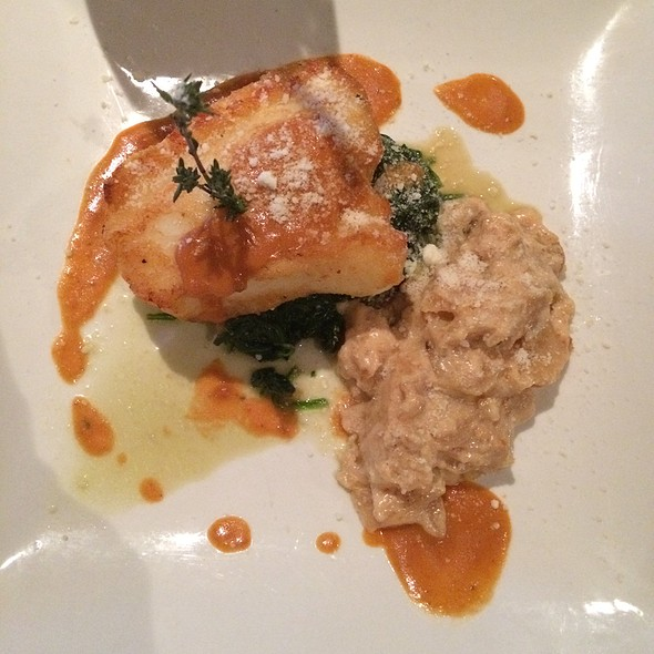Chilean Seabass With Scalloped Potatoes Over Sautéed Spinach - Da Vinci Ristorante, Marco Island, FL