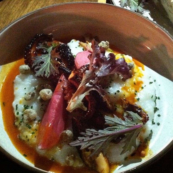 Octopus, Congee, Field Peas, Hot Sauce - Petruce Et Al, Philadelphia, PA