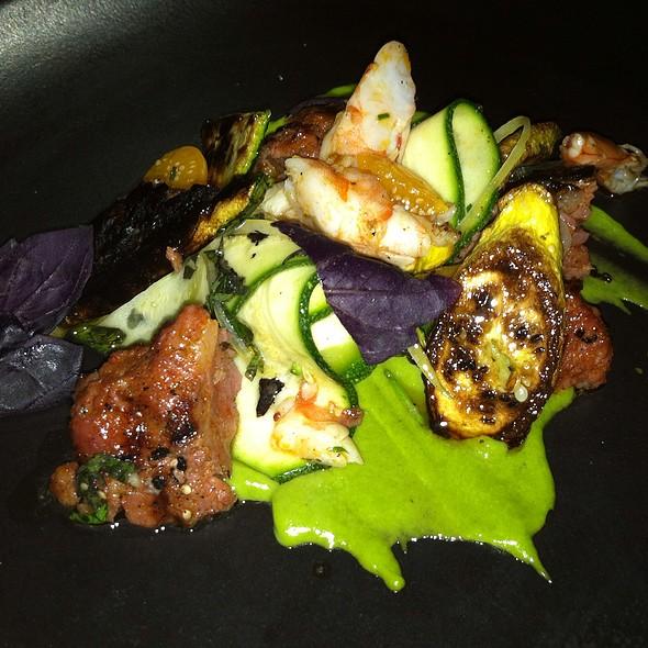 Chorizo, Shrimp, Summer Squash, Gooseberries, Basil - Petruce Et Al, Philadelphia, PA