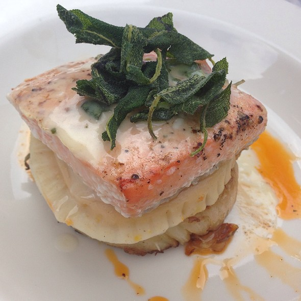 Cedar-Roasted Salmon - Marlow Bistro, New York, NY