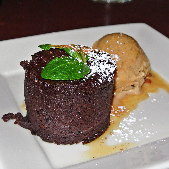 Warm Chocolate Soufflé Cake - Cascal, Mountain View, CA