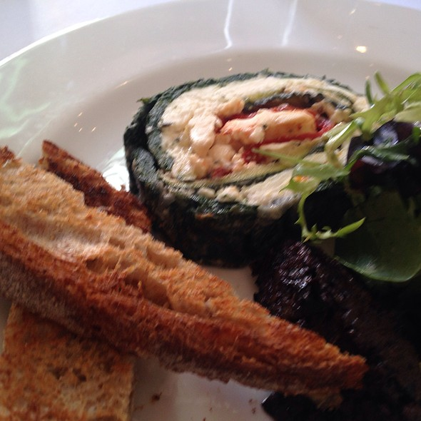 Goats Cheese And Spinach Roulade - The Peasant, London