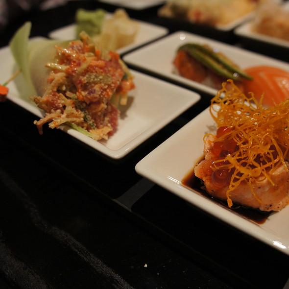 Salmon Roe and Spicy Tuna Cucumber Hand Roll - Oishii Boston, Boston, MA
