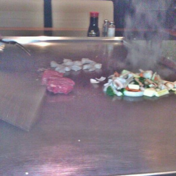 Hibachi steak and shrimp - Taki Japanese Sushi & Hibachi Restaurant, Dunwoody, GA