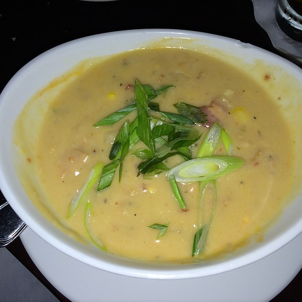 """Loaded"" New England Clam Chowder - Longfellows Restaurant & Hotel, Saratoga Springs, NY"