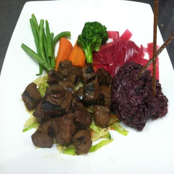 Beef Hibachi With 7Grain Rice - Arisu Japanese Restaurant, Englishtown, NJ