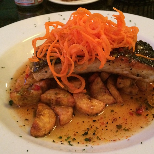 Citrus Glazed Walleye Over Roasted Plantains - Monocacy Crossing, Frederick, MD