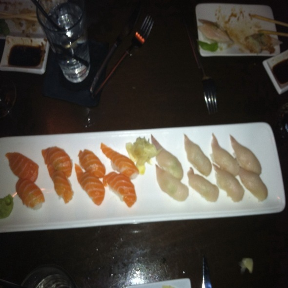 Salmon Sushi And Yellow Tail Sushi - Okura Robata Grill and Sushi Bar - La Quinta, La Quinta, CA