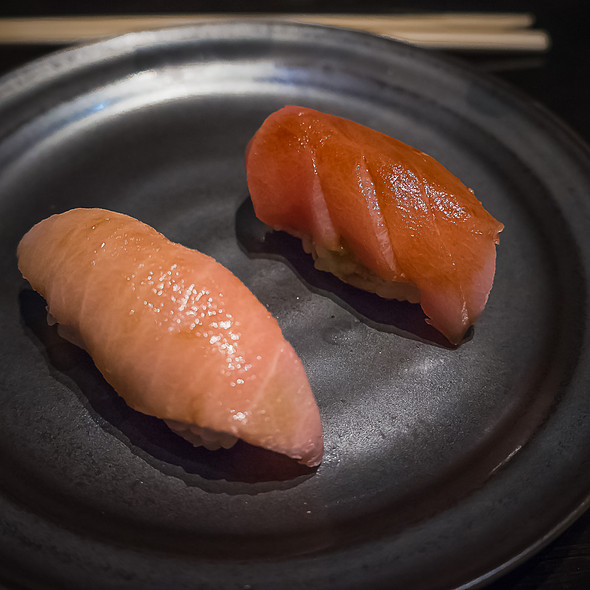 Toro Nigiri- Two Ways - Sushi Sasabune Hawaii, Honolulu, HI