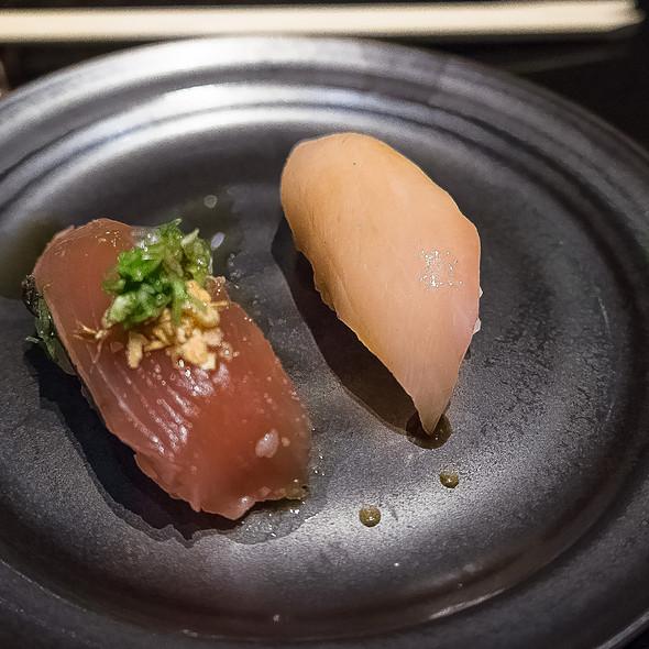Skipjack Tuna & Hamachi Nigiri - Sushi Sasabune Hawaii, Honolulu, HI