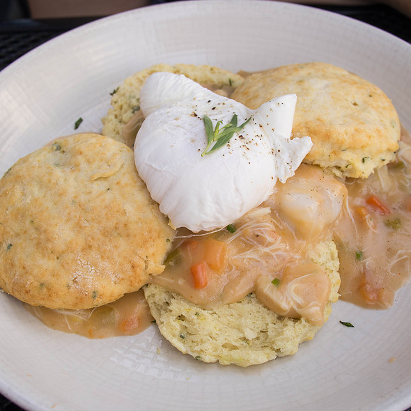Biscuits and Lobster Gravy - GT Fish and Oyster, Chicago, IL
