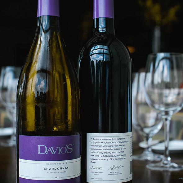 Davio's Chardonnay and Davio's Cabernet - Davio's - Lynnfield, Lynnfield, MA