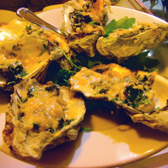 Asiago Baked Oysters - Favaloro's Big Night Bistro, Pacific Grove, CA