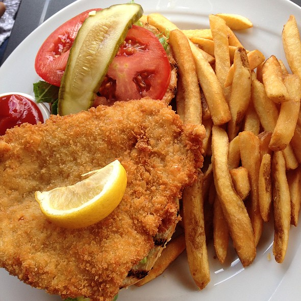 Schnitzel On A Kaiser - The Black Forest Restaurant, Harrison Hot Springs, BC