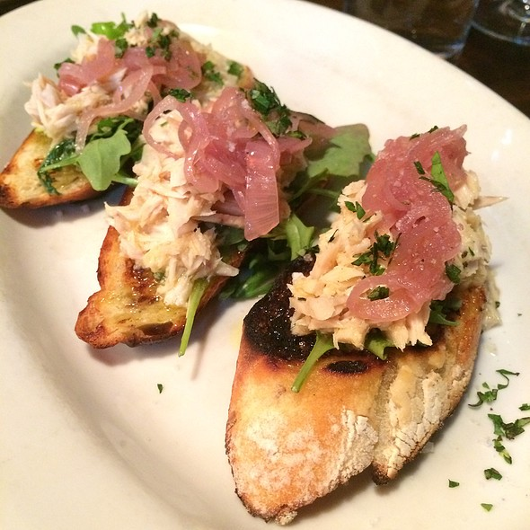 Poached Albacore With Arugula And Pickled Onions - Branzino Restaurant, Seattle, WA