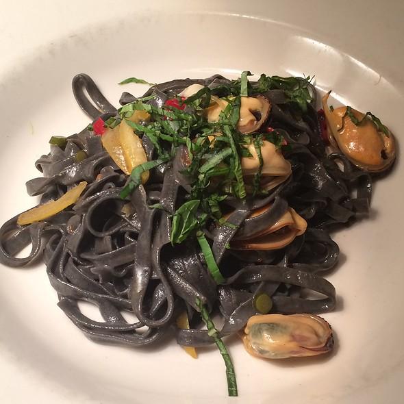 Squid Ink Chitarra - Branzino Restaurant, Seattle, WA