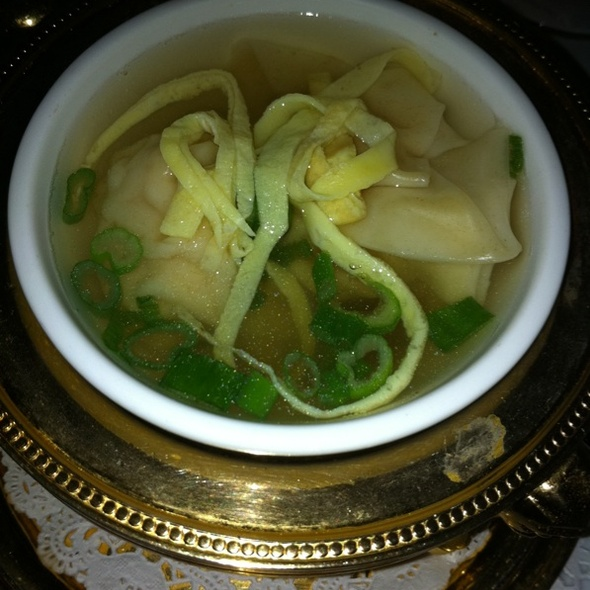Seafood Wonton Soup - Mr. K's, New York, NY