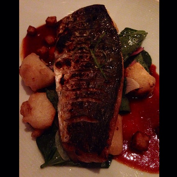 Broiled Spanish Mackerel With Garlic Fried Milk - Annisa, New York, NY