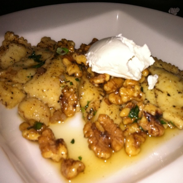 Walnut And Brown Butter Ravioli - Storie Street Grille, Blowing Rock, NC