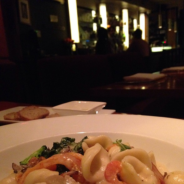 Hancut Pasta In A Restaurant Night - Candle 79, New York, NY