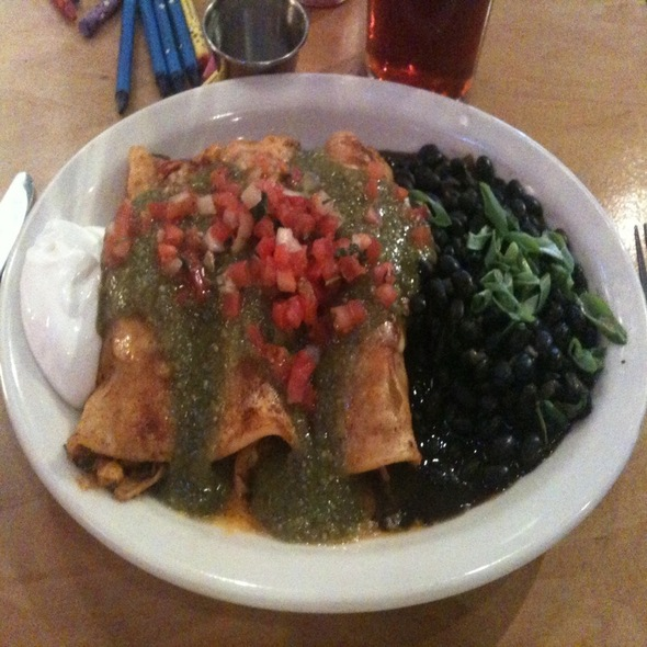 Lucaterro's Guadalajara Enchiladas - Walnut Brewery, Boulder, CO
