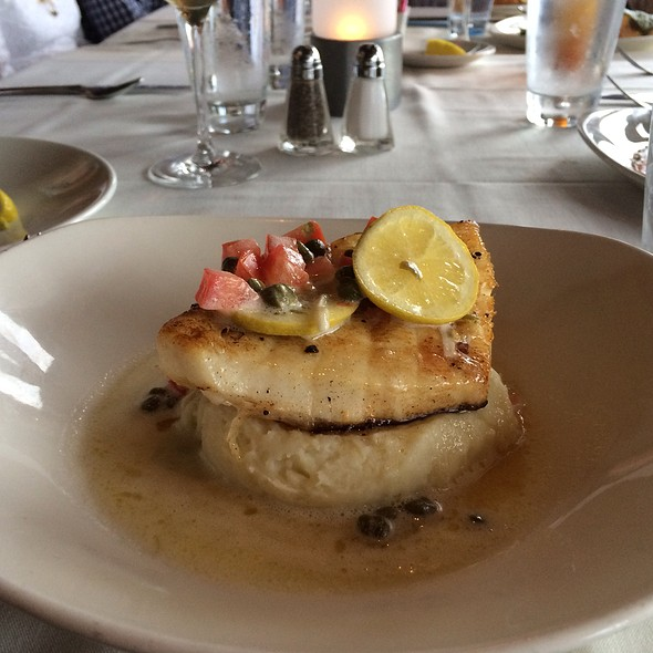Sea Bass Lemon Butter Smashed Potato - Rusty Pelican Restaurant, Newport Beach, CA