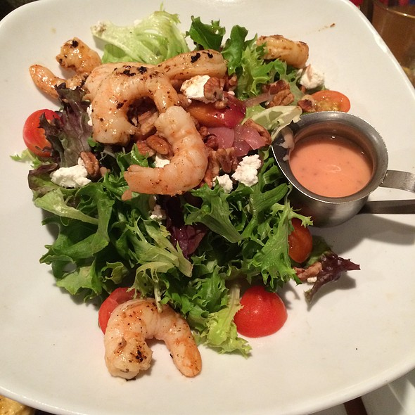 Grilled Peach Salad W/ Shrimp - MOSAIC Restaurant, Richmond, VA