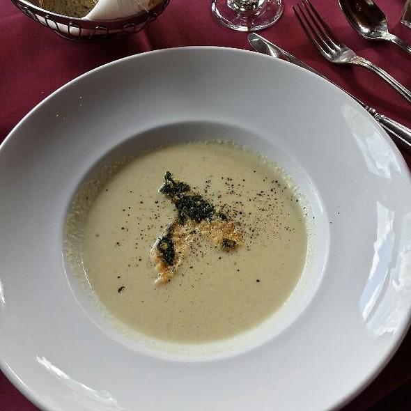 Artichoke Parmesan Soup - Hearthstone Restaurant, Breckenridge, CO