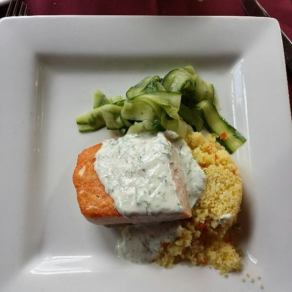 Salmon With Couscous - Hearthstone Restaurant, Breckenridge, CO