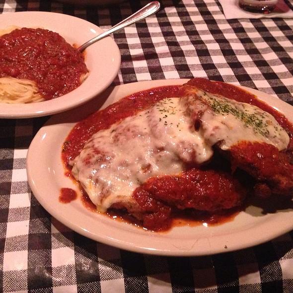 Baked Chicken And Eggplant Parmigiana - Delmonico's Italian Steakhouse - Albany, Albany, NY