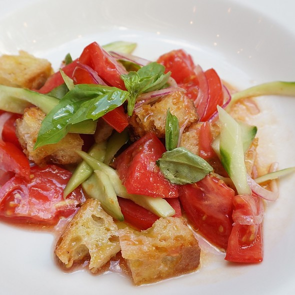 Cherry tomatoes, cucumbers, mint, panzanella salad - Anteprima, Chicago, IL