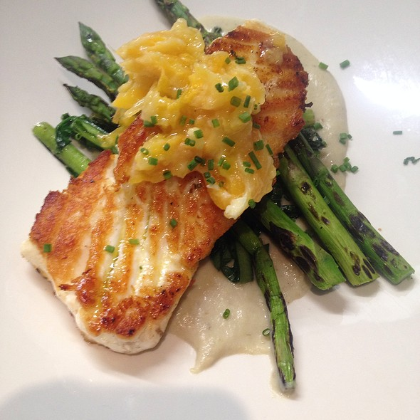 Pan Seared Halibut - Lexx Restaurant, Lexington, MA