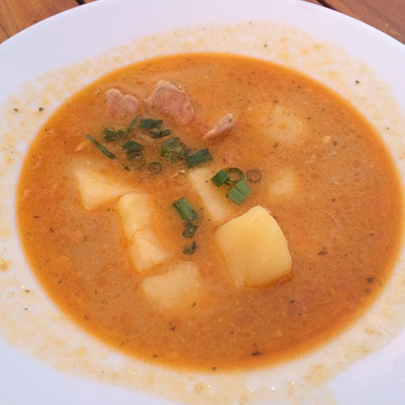 Chicken, Potato, Vegetable Soup - Brasa Churrascaria and Brewpub, Santa Rosa, CA