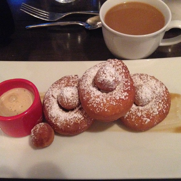 Sweet Potato Donuts With Honey Molasses Dipping Sauce - Corner Table, Minneapolis, MN