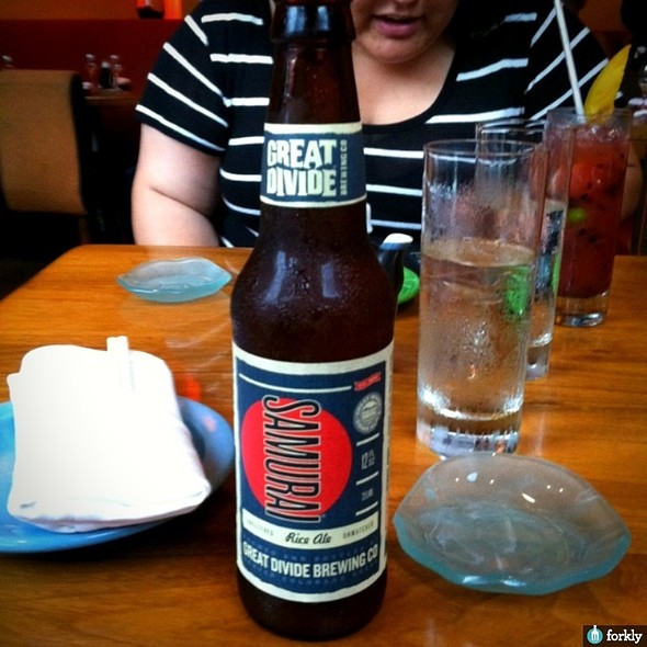 Samurai Unfiltered Rice Ale - SUSHISAMBA West Village, New York, NY