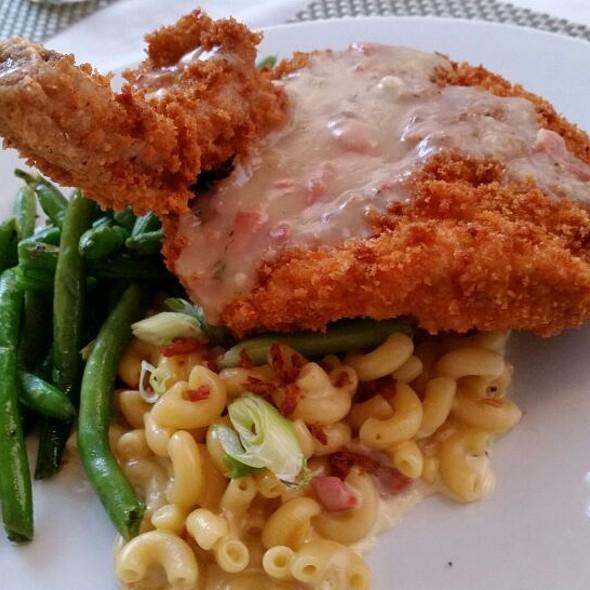 Pan Fried Pork Chop - Poogan's Porch Restaurant, Charleston, SC