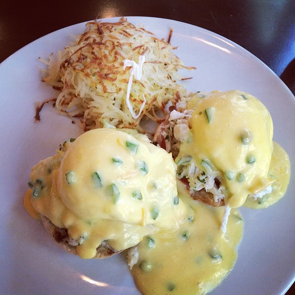Crab Cake Eggs Benedict - Beach Cafe - Tropicana Las Vegas, Las Vegas, NV