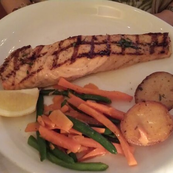 Grilled Salmon with daily selected vegetables - Luce Restaurant & Enoteca, New York, NY