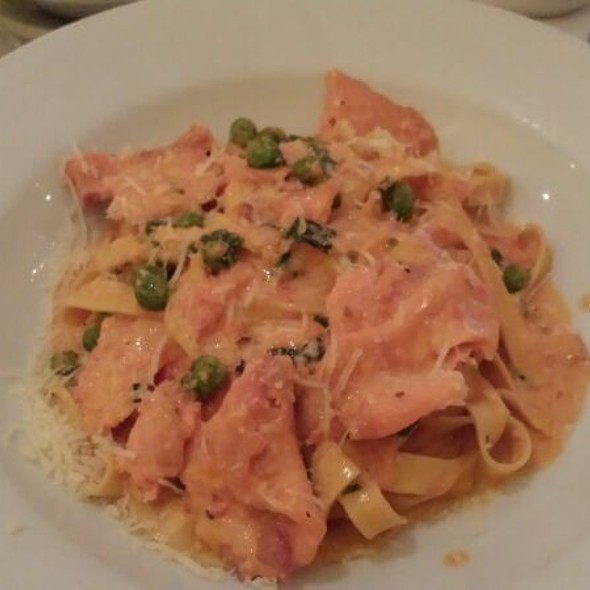 Fettuccine with Smoked Salmon, Vodka, Cream & Peas - Luce Restaurant & Enoteca, New York, NY