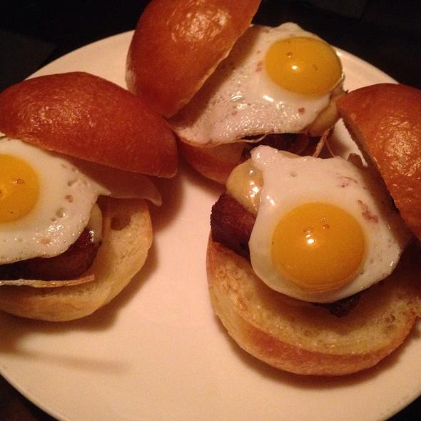 Pork Belly And Quail Egg Sliders - Bathtub Gin, New York, NY