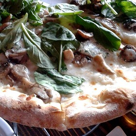 Mushroom Pizza - Areal Restaurant, Santa Monica, CA
