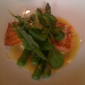 Salmon With Polenta - Trevi's Restaurant - Omni Mandalay, Irving, TX