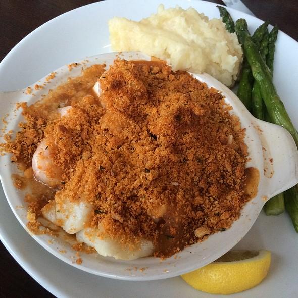 Cast Iron Baked Seafood Casserole - Seaglass Restaurant and Lounge, Salisbury, MA