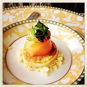 Smoked Salmon On Belini With Caviar - River Cafe, Brooklyn, NY
