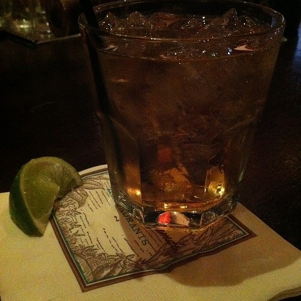 Zaya and Cola Cocktail - Tommy Bahama Restaurant & Bar - Orlando, Orlando, FL