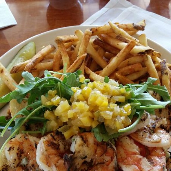 Grilled Shrimp Po'boy - The Mooring Restaurant, Newport, RI