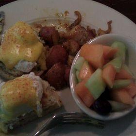 Crab Cake Eggs Benedict - Village Tavern Greensboro, Greensboro, NC