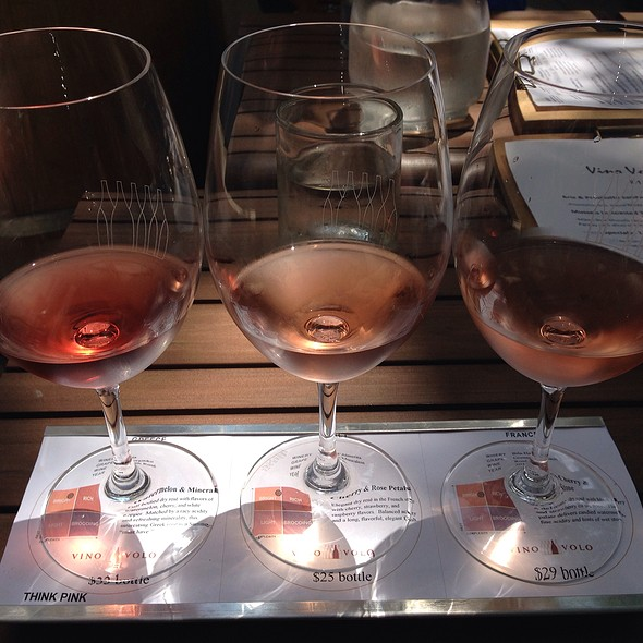 Think Pink Wine Flight - Vino Volo - Bethesda, Bethesda, MD