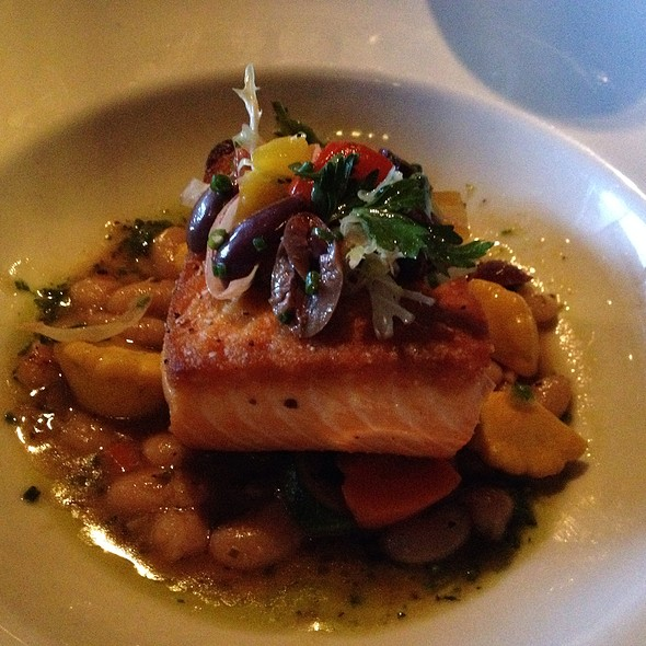 Crisp Salmon W Bean Ragout - The Mercury, Dallas, TX
